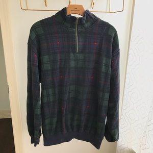 Nautica Vintage Plaid 1/4 Zip Pullover Sweater